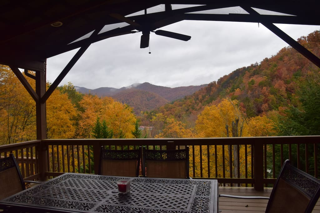 October view from the covered deck