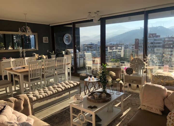 New Santiago apartment wonderful views 13th floor