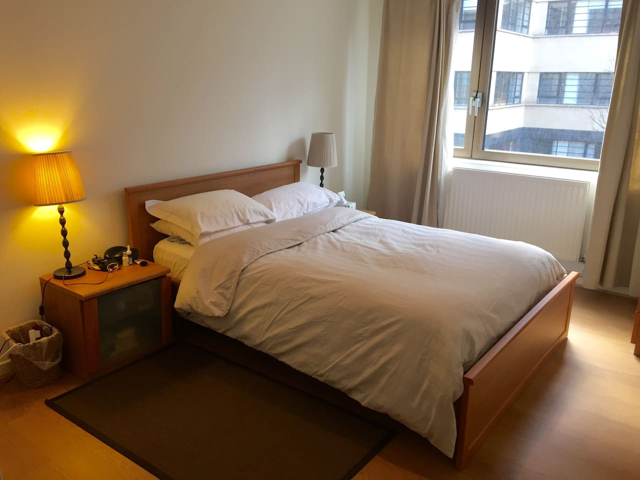 Spacious and comfortable bedroom with ample storage
