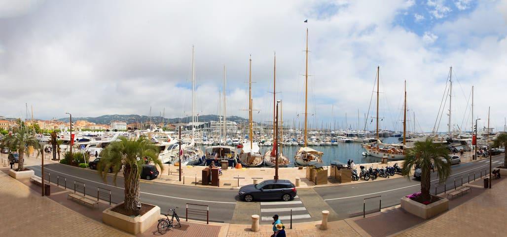 Beachfront, Port-view, 2 min beach and Palais