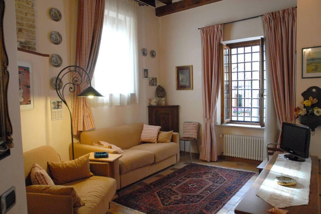 Un confortevole soggiorno