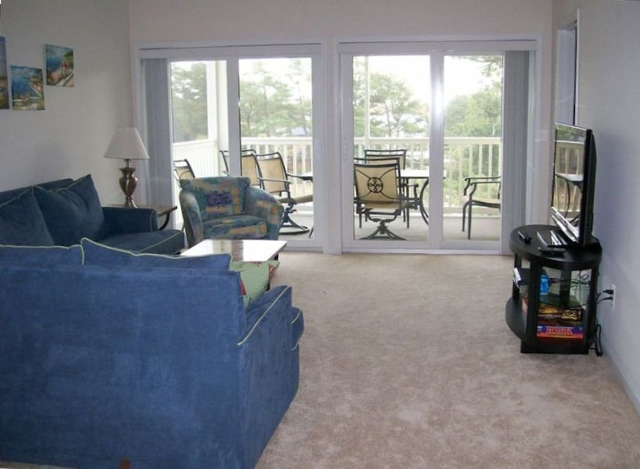 living room and large screen porch