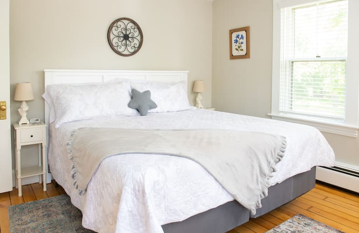 Master bedroom with new King sized bed
