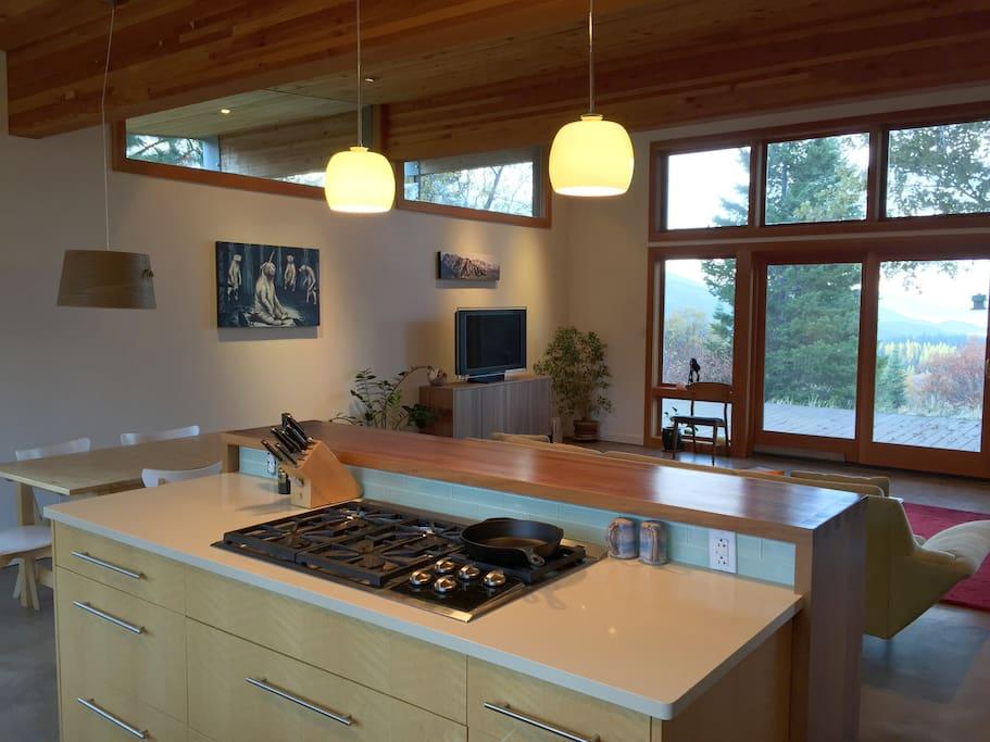 Kitchen Island with Propane Stove Top