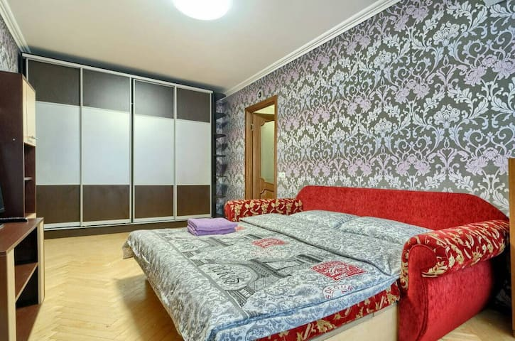 1 bedroom. Good one for two. Exhibition center