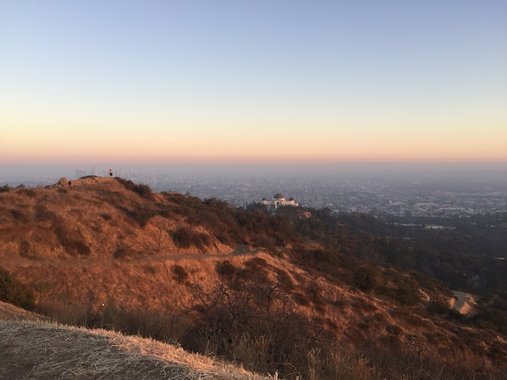 Griffith Park sunset run