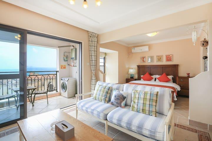 【近海无遮挡】双月湾琉璃海景一房一厅
