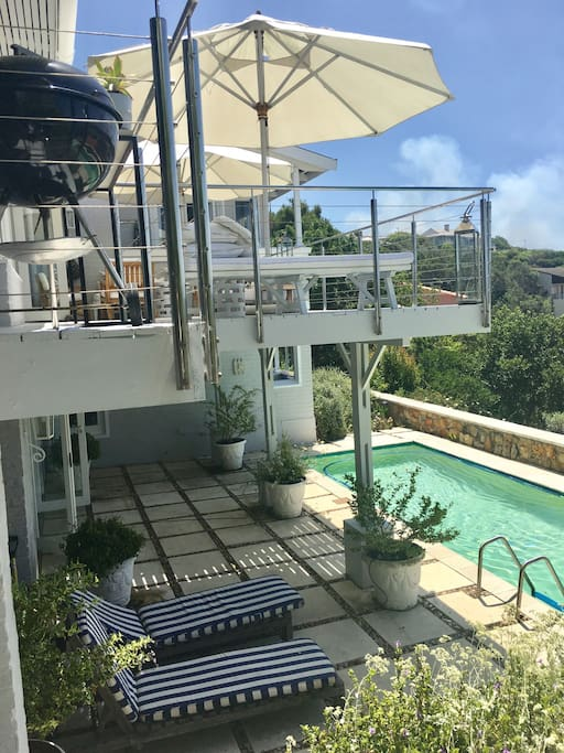 Downstairs pool and deck