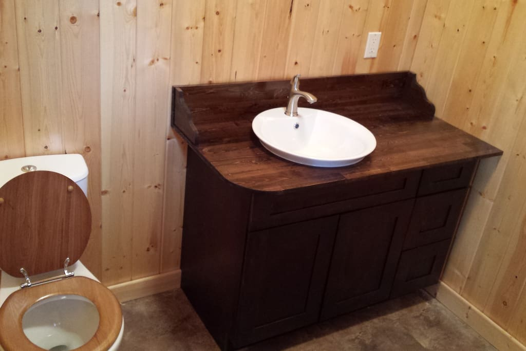 Spotless private bathrooms with shower