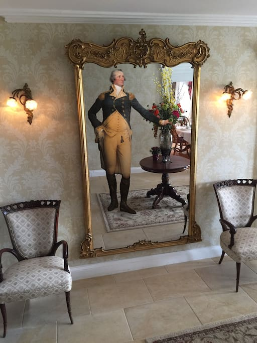 Our 250 year old mirror that GW viewed himself in