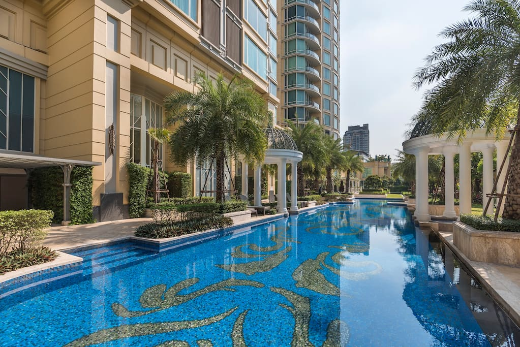 Welcome to my apartment at Royce Private Residences located in the heart of Bangkok!