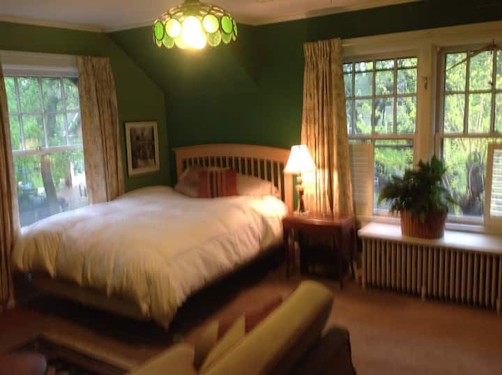 Green Room in 1920 Tudor Revival.  Classic
