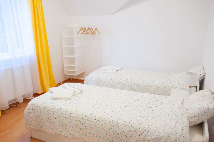 ⭐Cozy disinfected twin room next to hospital & spa