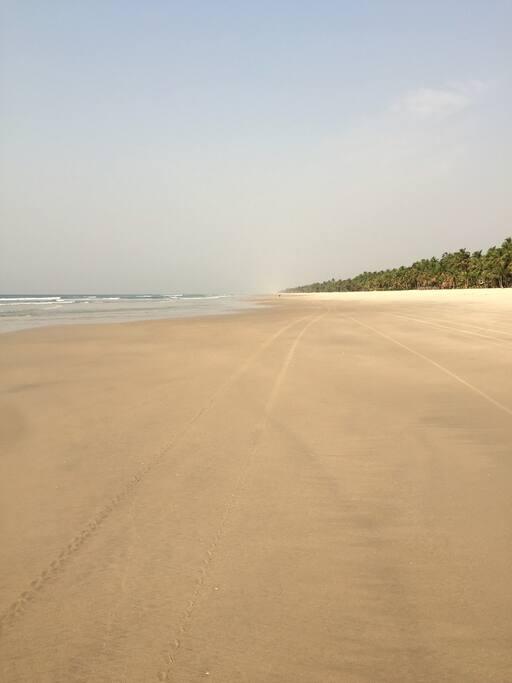 Une plage privée à l'infini