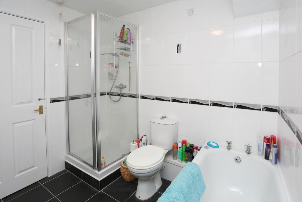 4 piece bathroom with power shower.