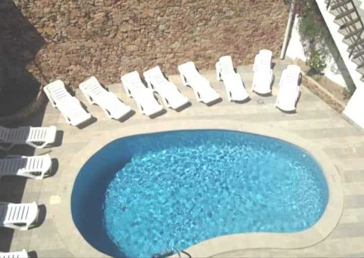 Apartamento nuevo a 50 mts playa c.piscina Blanes