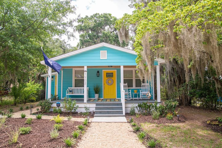 Cottage on Greene! Downtown Beaufort several Blocks Away and Parris Island a 10