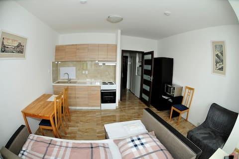 Spacious studio apartment in Bratislava Petržalka
