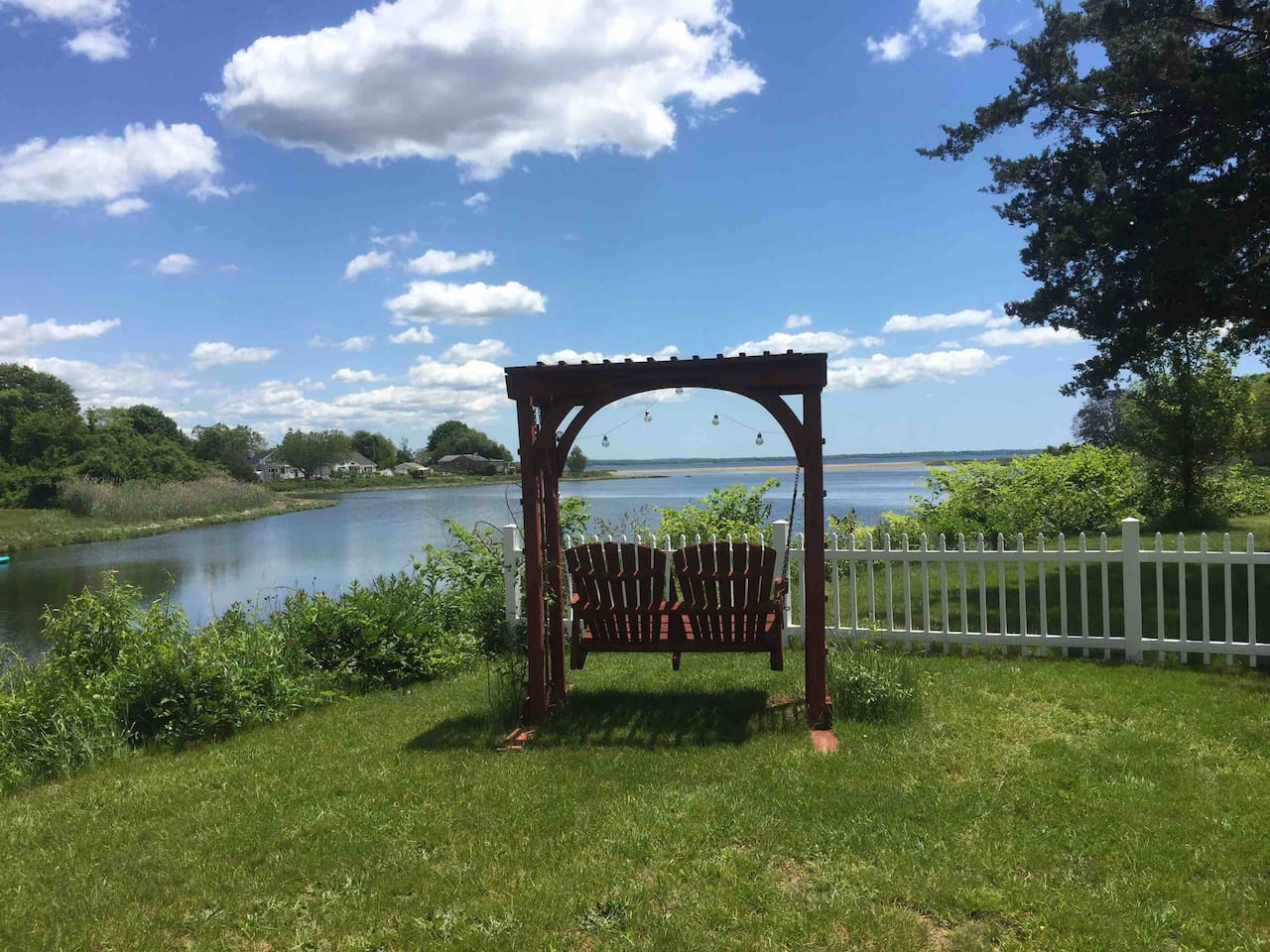 Enjoy this gorgeous view no matter the weather! Sip some wine or enjoy a novel in the peace & tranquility of this property!
