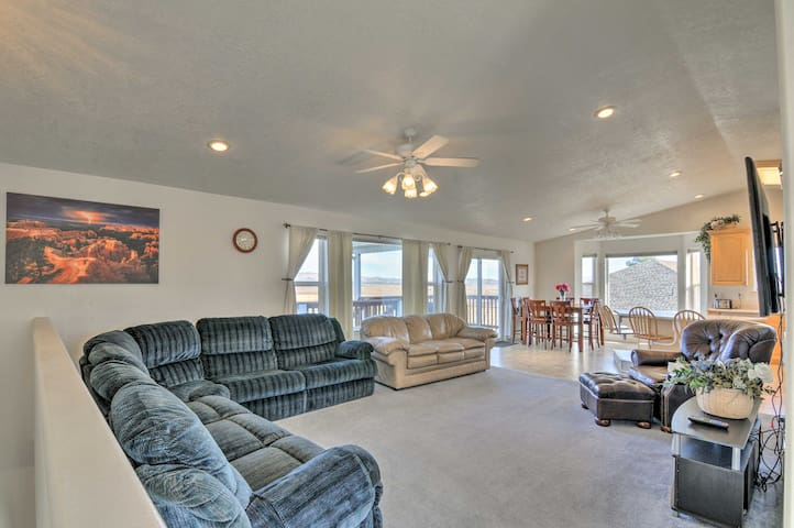 You'll love ending your days in either of the home's 2 inviting living rooms.