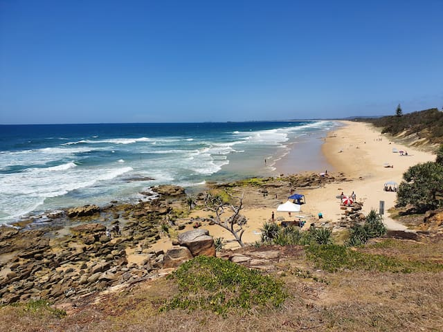 The beach house, Point Arkwright. 150m to beach.
