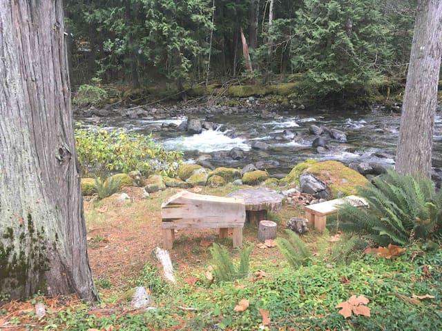 Cozy cabin on Silver- Hope Creek.