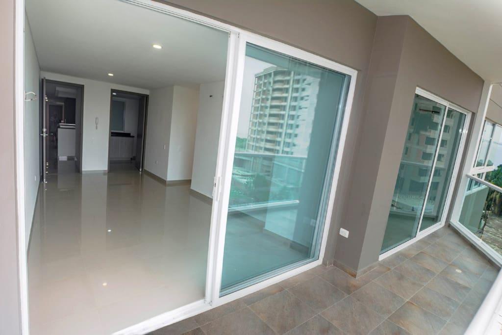 Foto desde el balcón del apartamento