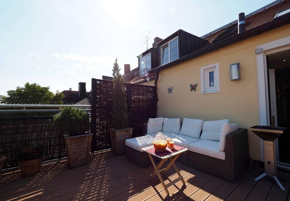 Rooftop terrace - lounge area