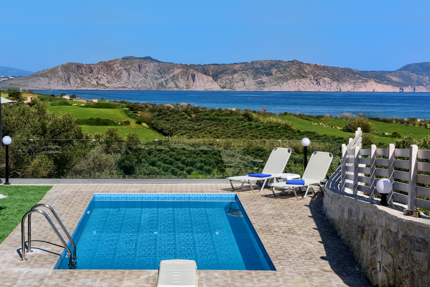 Nereid Villa...stunning sea and country side views from everywhere you stand!