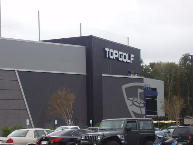 Top Golf is a new addition and is around a mile and a half away.