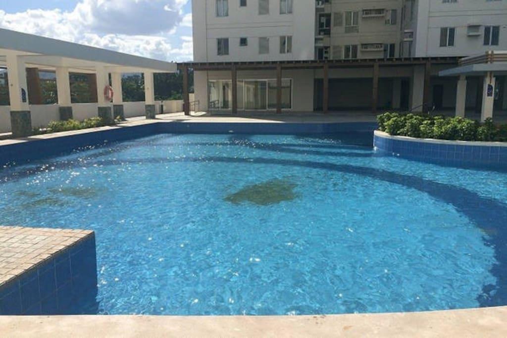 A full sized pool.