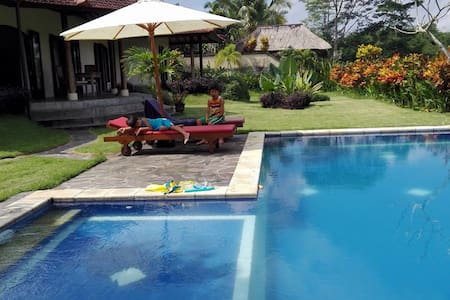 A new family villa by rice terrace - ubud