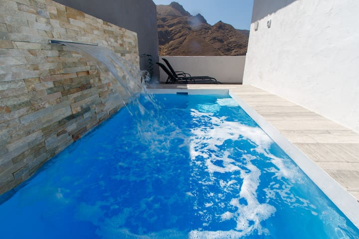 apartment with own heated pool