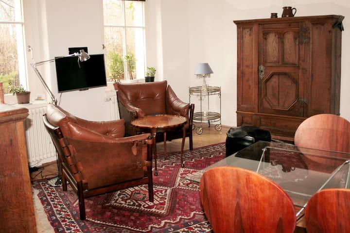 stilvolle Wohnung mit Garten und Sauna im Landhaus - Randowtal - Apartment