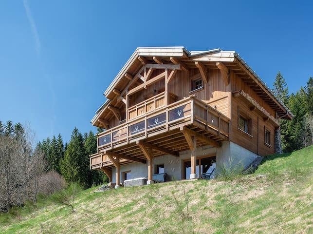 LE CERF DES HAUTES-VOSGES chalet jacuzzi sauna