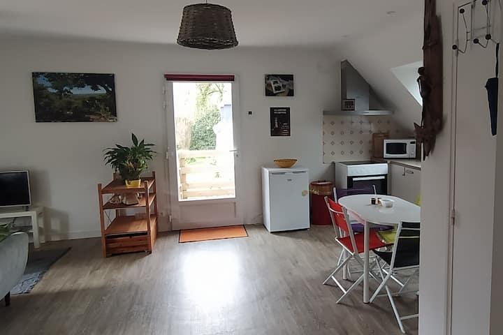 Grand appartement, étage de la maison avec jardin