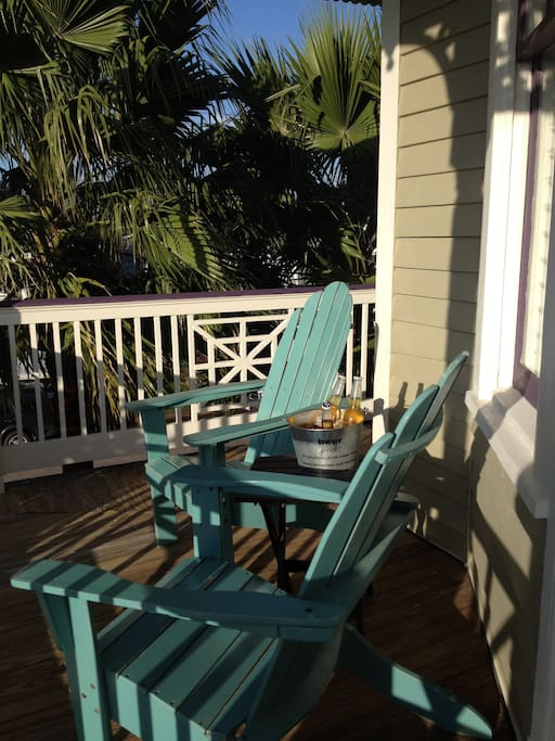 Relax on the upstairs porch with your favorite beverage and enjoy the view!