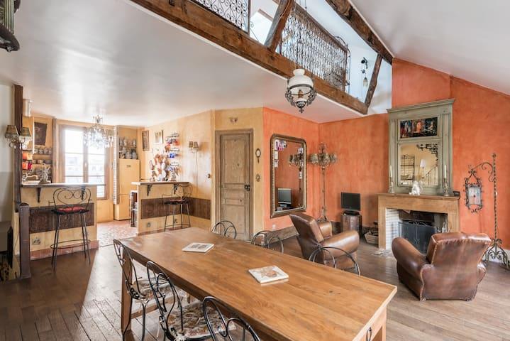 3 Pièces caractère avec terrasse au coeur Paris - Parijs - Appartement