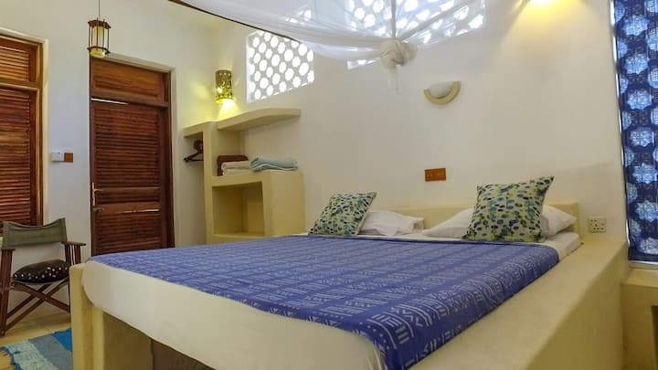 Bungalow in Paje Beach with Open-Air Bathroom