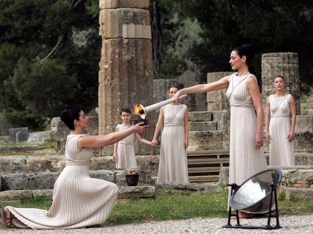 Ancient Olympia ( Olympic Flame is lit from the sun's rays )