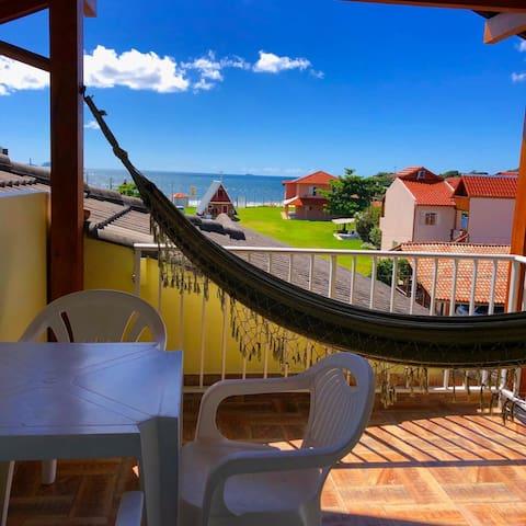 Lindo apartamento com vista para o mar !