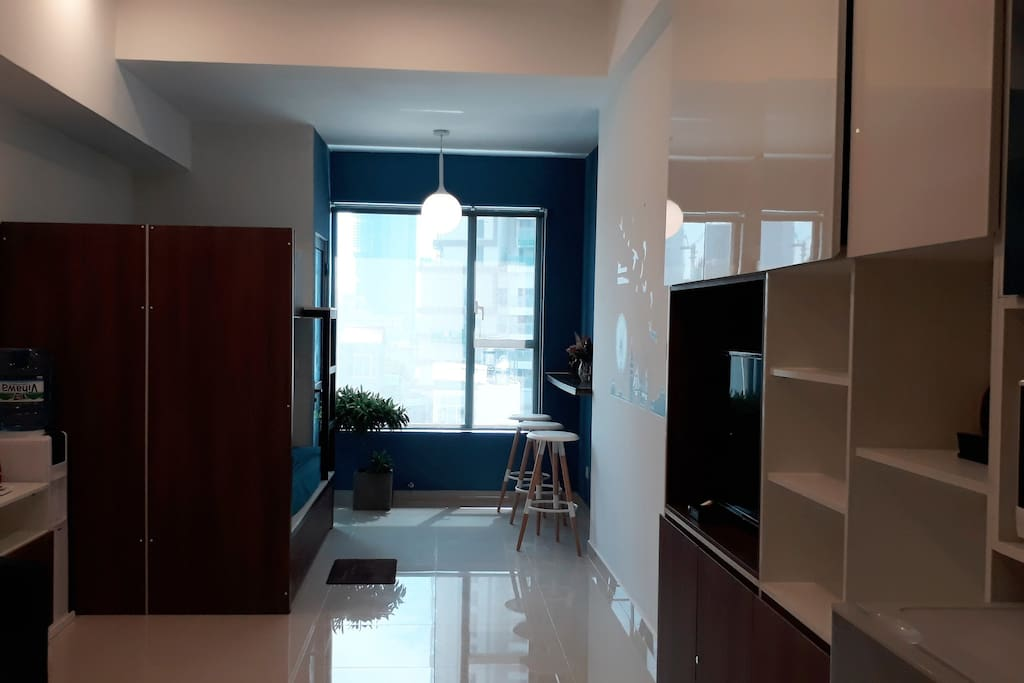 Fully-equipped studio is located right in downtown of the city