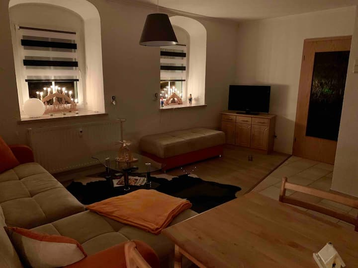 Modern & urig, 2-Zimmer Ferienwohnung in Carlsfeld