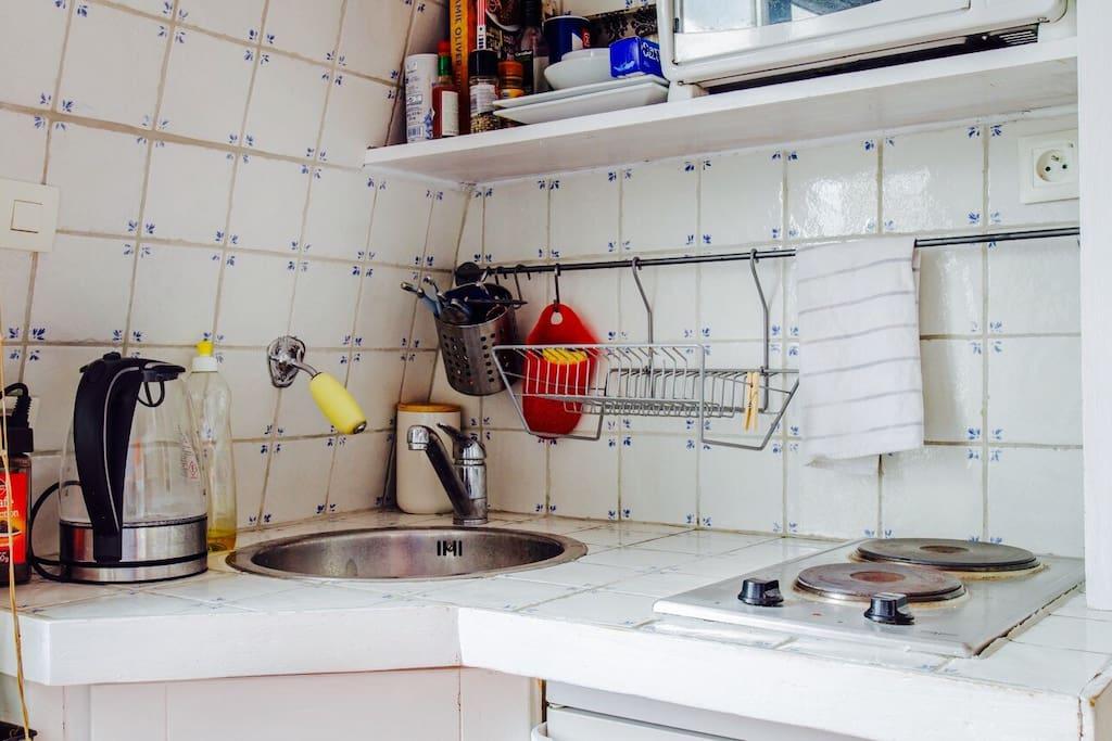 kitchenette toute équipée
