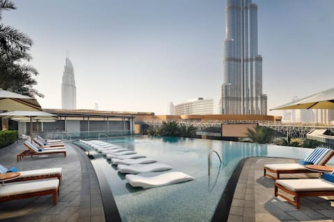 5* Hotel, luxury 150m 2 Bedroom Link to Dubai mall