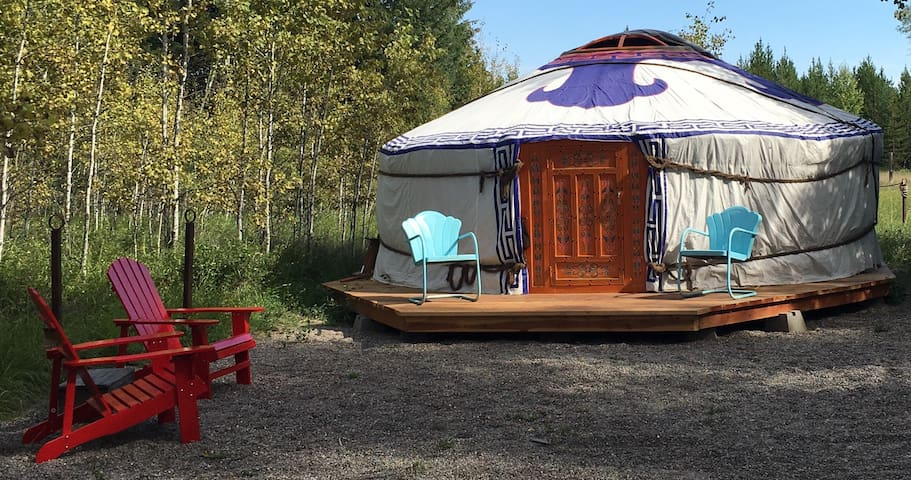 Glacier National Park Yurt in Polebridge, MT