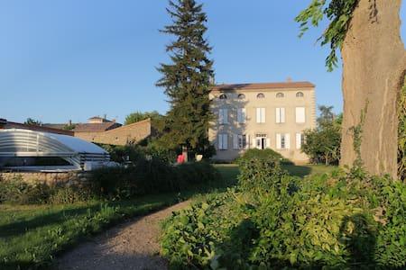 Vacances d'été ,grande maison pour famille ou amis - Andancette - Casa