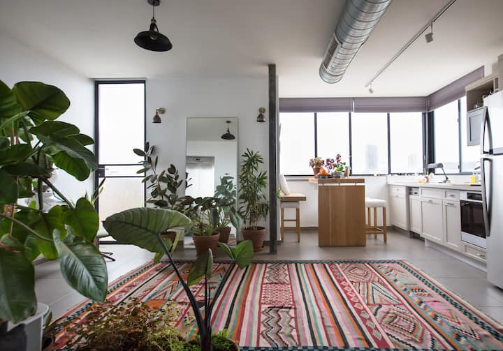Unique roof apt with emotional views and plants