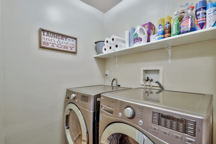 Fully stocked laundry