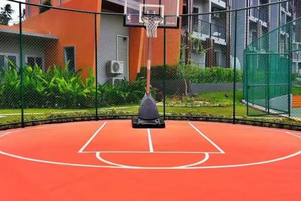 篮球场(the basketball court)